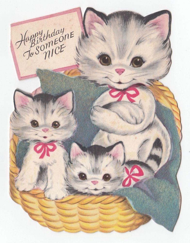 Pin on Vintage Birthday greeting cards II