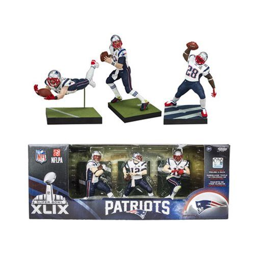 NFL New England Patriots Championship Action Figure 3-Pack McFarlane Toys Sports: Football Action Figures