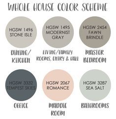 Color Schemes For Homes whole house paint scheme - google meklēšana | ideas for the house