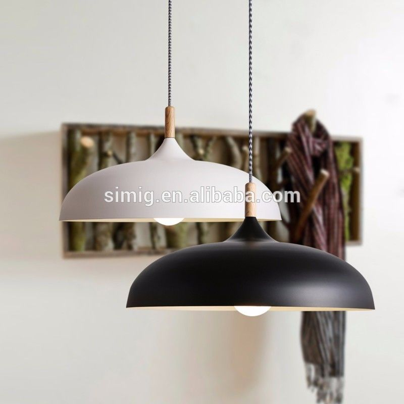 Photo of Nordic Style Home Retro White Metal Replica Commercial LED Pendant Light