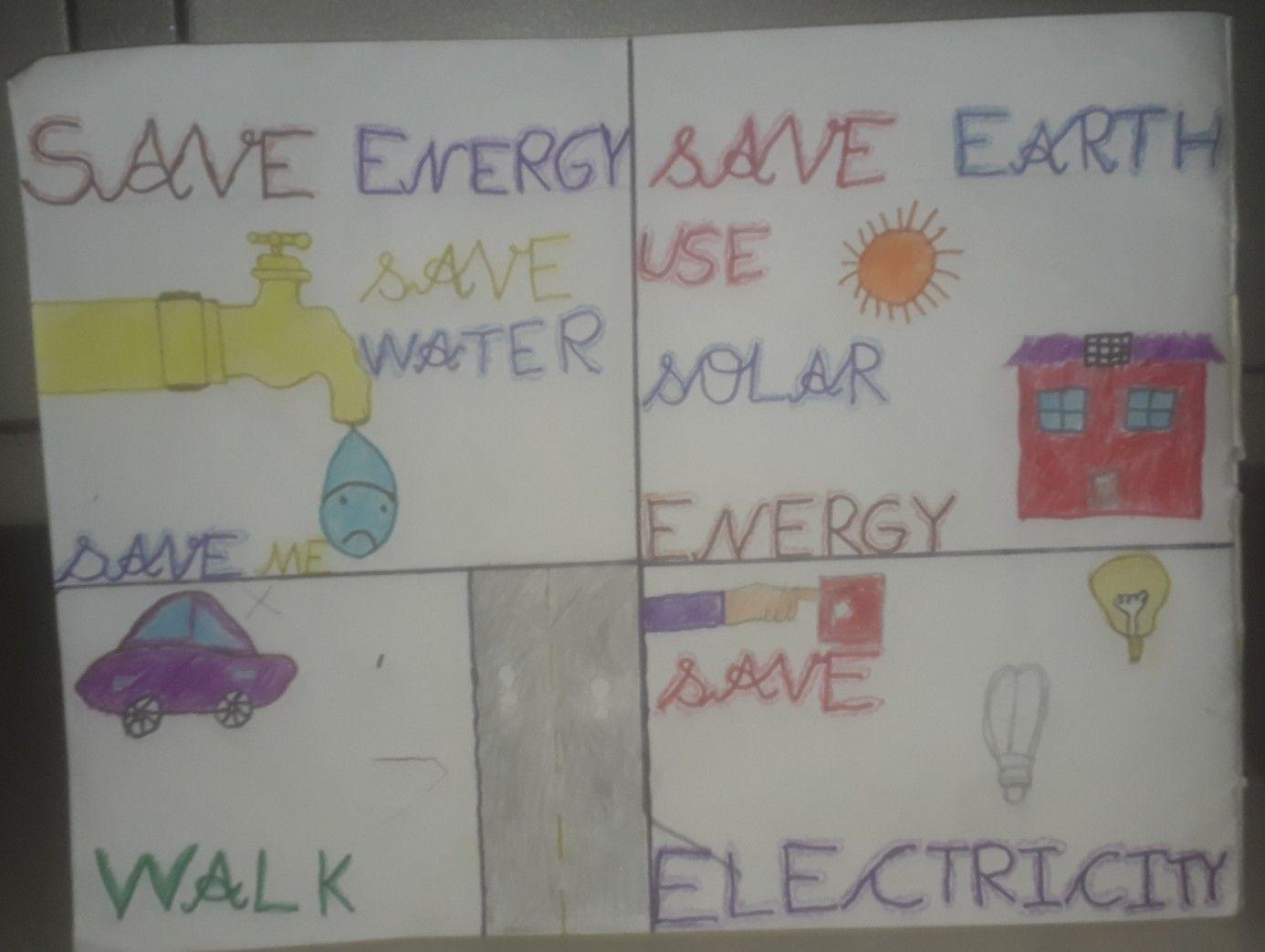 Save Energy Save Earth Drawing