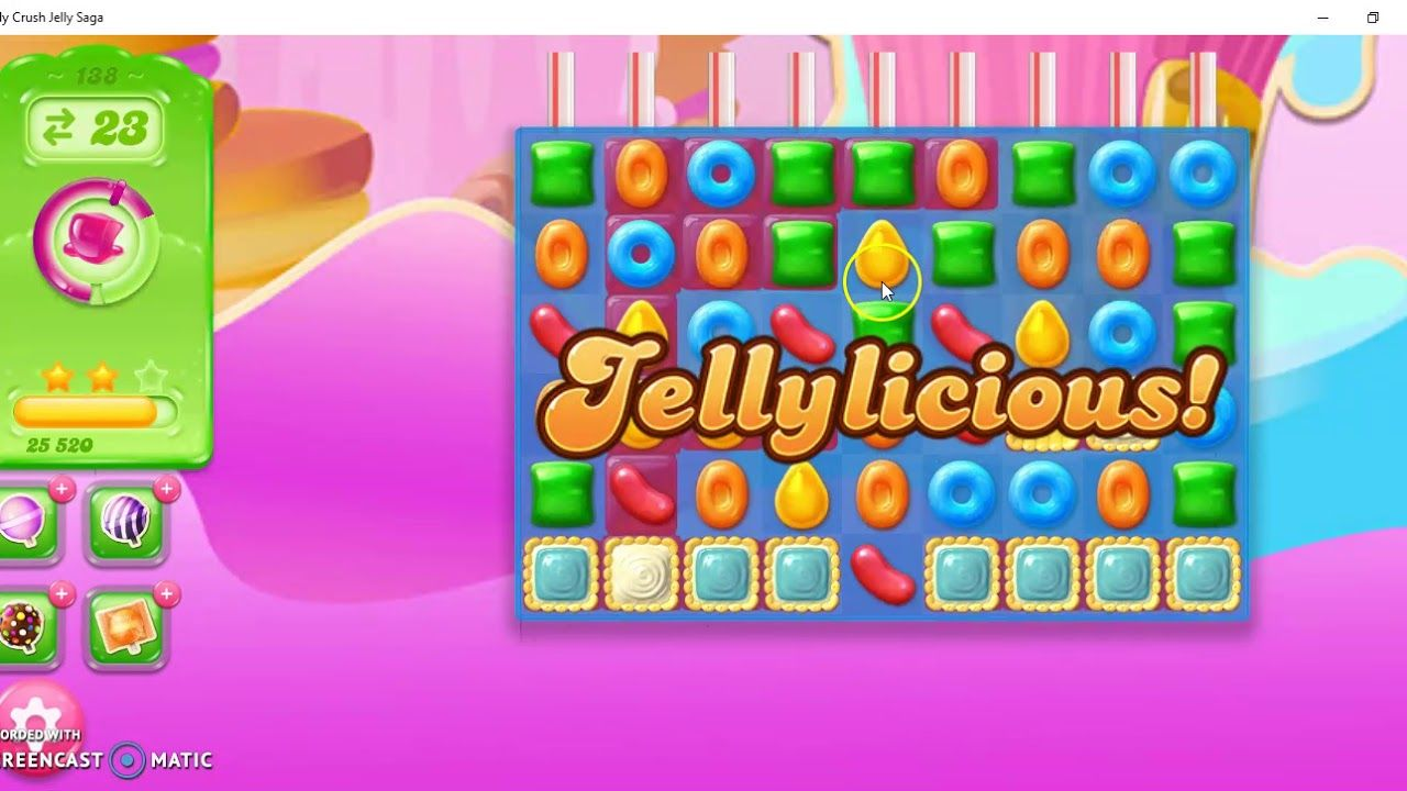 Candy Crush Jelly Saga Level 138 No Booster Candy Crush Jelly Candy Crush Jelly Saga Candy Crush Games