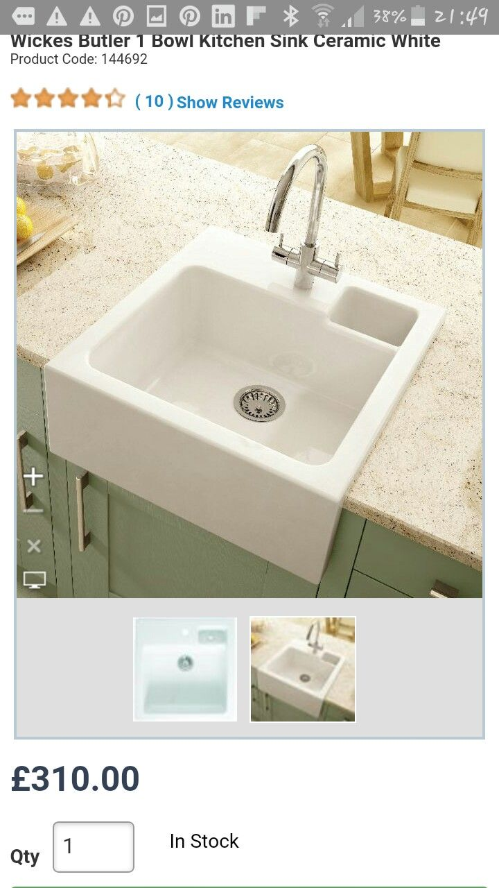 Small ceramic sinks from Wickes... http://www.wickes.co.uk/Wickes ...