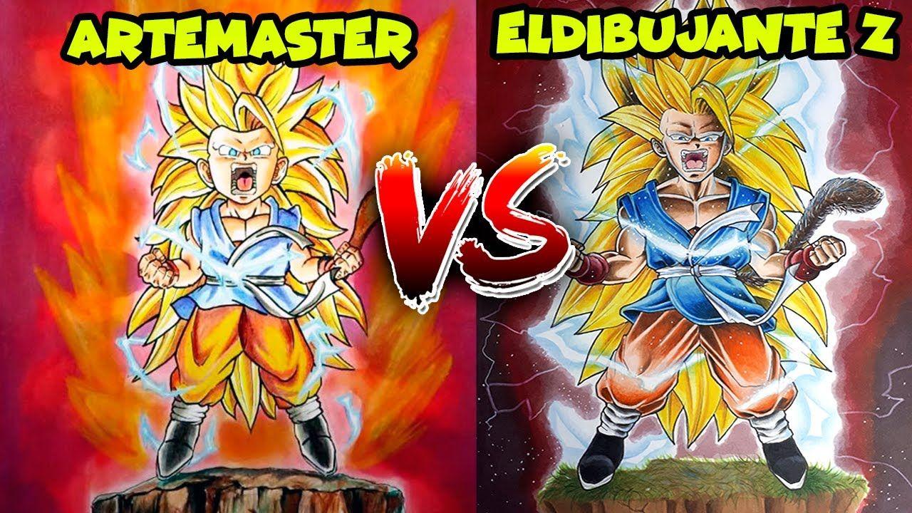 Redibujando Un Dibujo De Artemaster Dibujos De Dragon Ball Como Dibujar A Goku Dibujo De Goku Dibujos