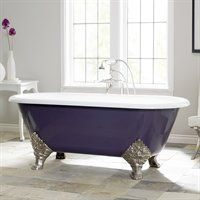 I Did This To My Claw Foot Tub Painted It Purple And Silver