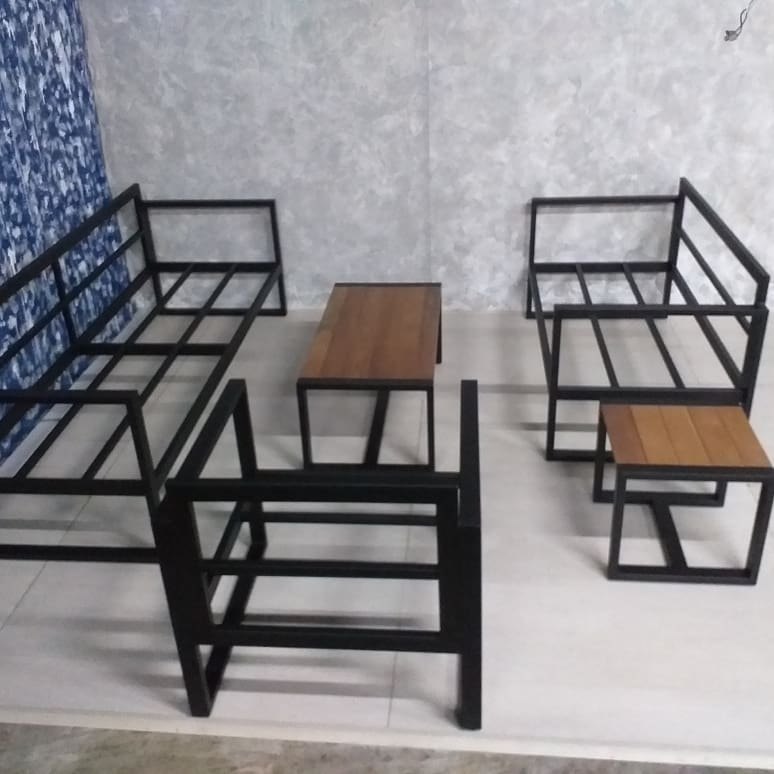 Balau Mild Steel Furniture Metal Sofa, Iron Sofa Set Designs
