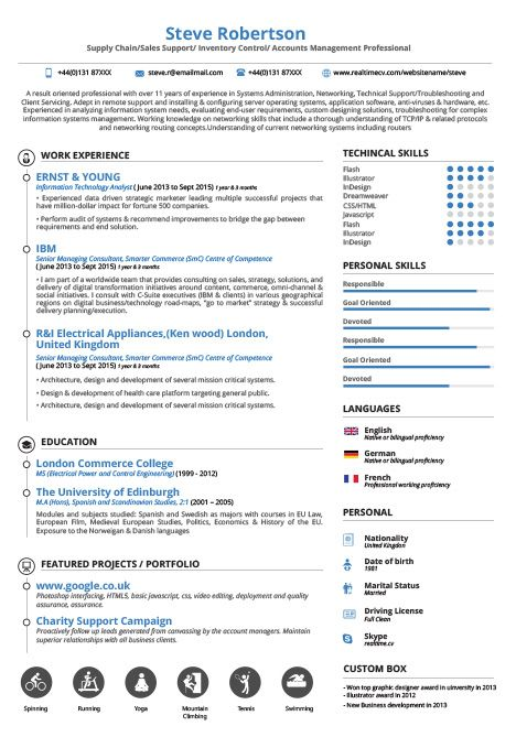 Flexi Resume Builder Template Realtime Cv Resume
