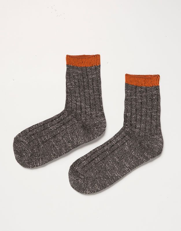 Pull&Bear - mulher - meias e peúgas - meias jaspeadas risca contraste - cinza mesclado - 05890315-V2016