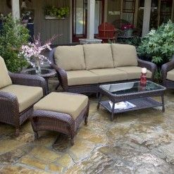 Best Lexington 6 Piece Deep Seating Sofa Set Patio Furniture 400 x 300