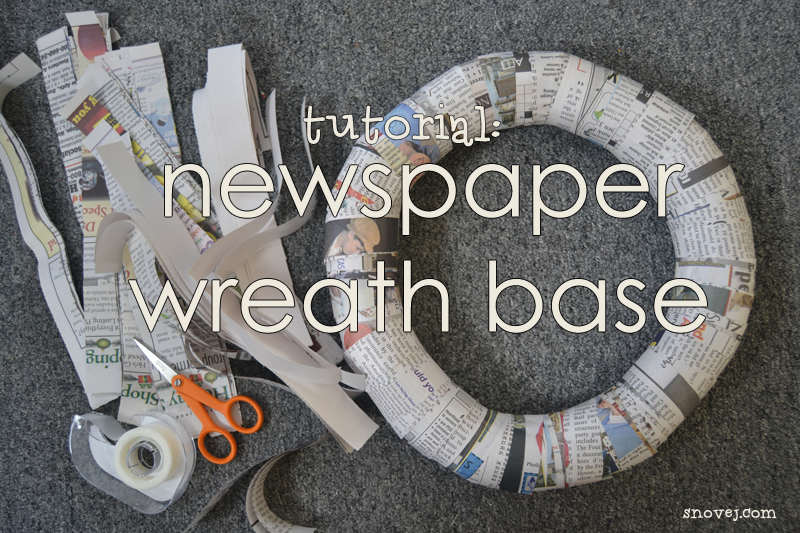 How to make a wreath base from newspaper I might try this ...