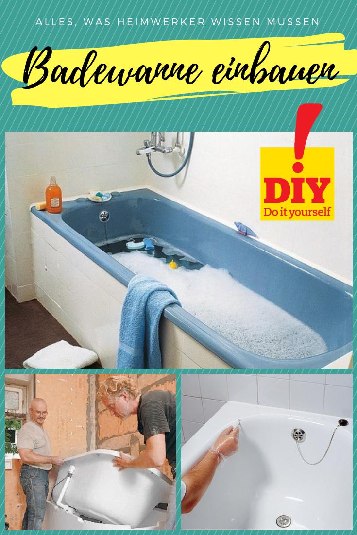 Hier Erfahren Sie Alles Rund Um Badewannen Einbauen Austauschen Reparieren Eingebaute Badewanne Badewanne Badewanne Selber Bauen
