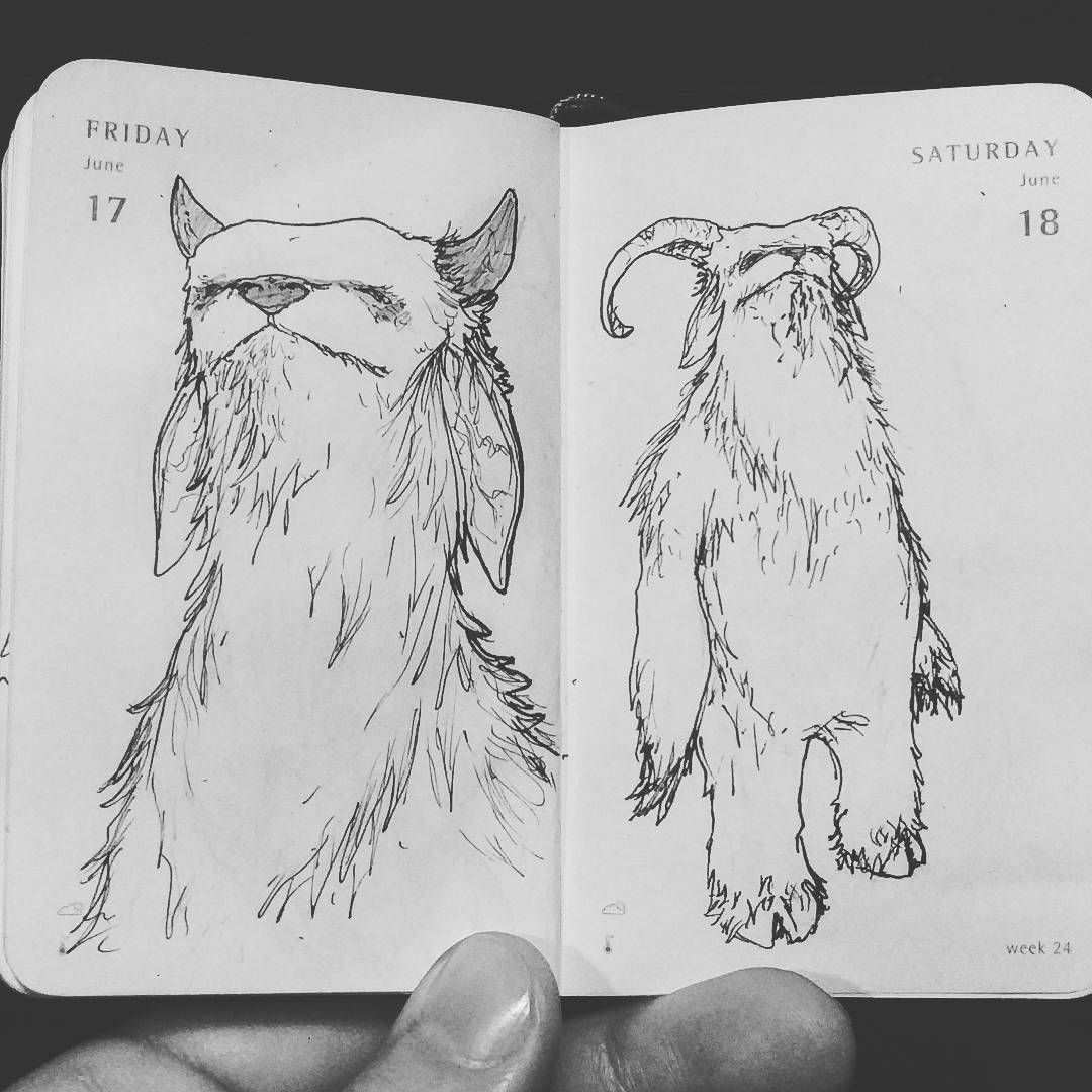 Some potential #lostcreature project #TinyDailySketch #daily #sketch #sketchbook #drawing #penandpaper #ink #doodles