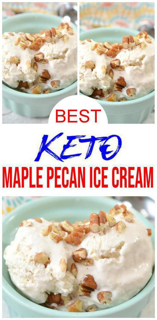 Keto Ice Cream! BEST Low Carb Maple Pecan Vanilla Ice Cream Idea – Quick & Easy Homemade Ketogenic Diet Recipe – Completely Keto Friendly #ketoicecream