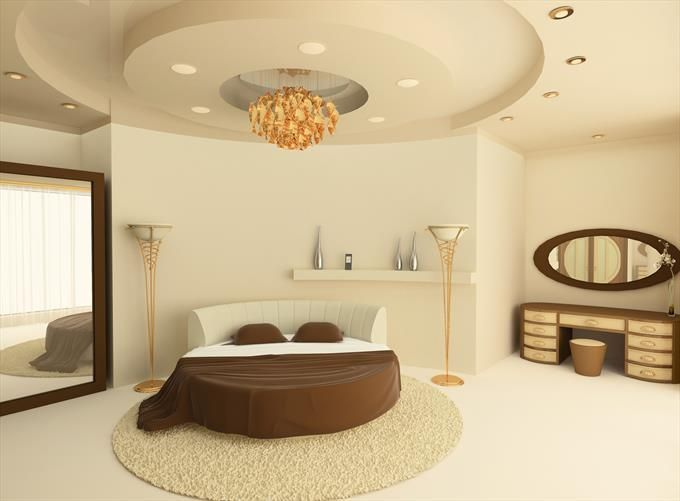 Luxury art deco bedroom with round bed - Homeclick Community