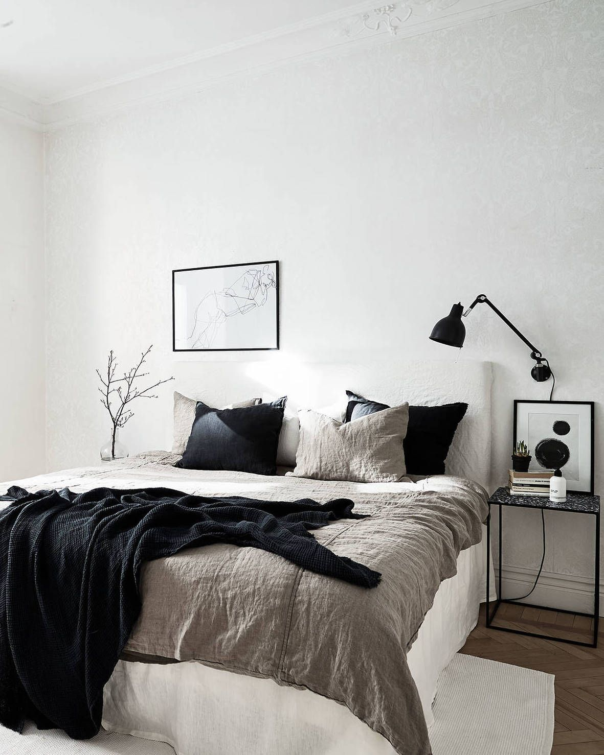 great mixture of materials home pinterest schlafzimmer zuhause und schlafzimmer inspiration. Black Bedroom Furniture Sets. Home Design Ideas