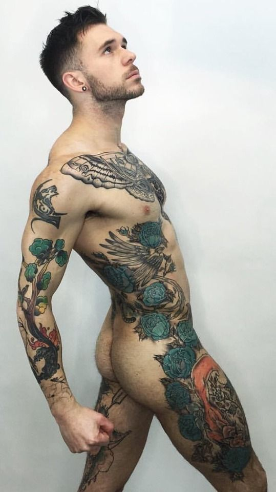 Gay man tattoo