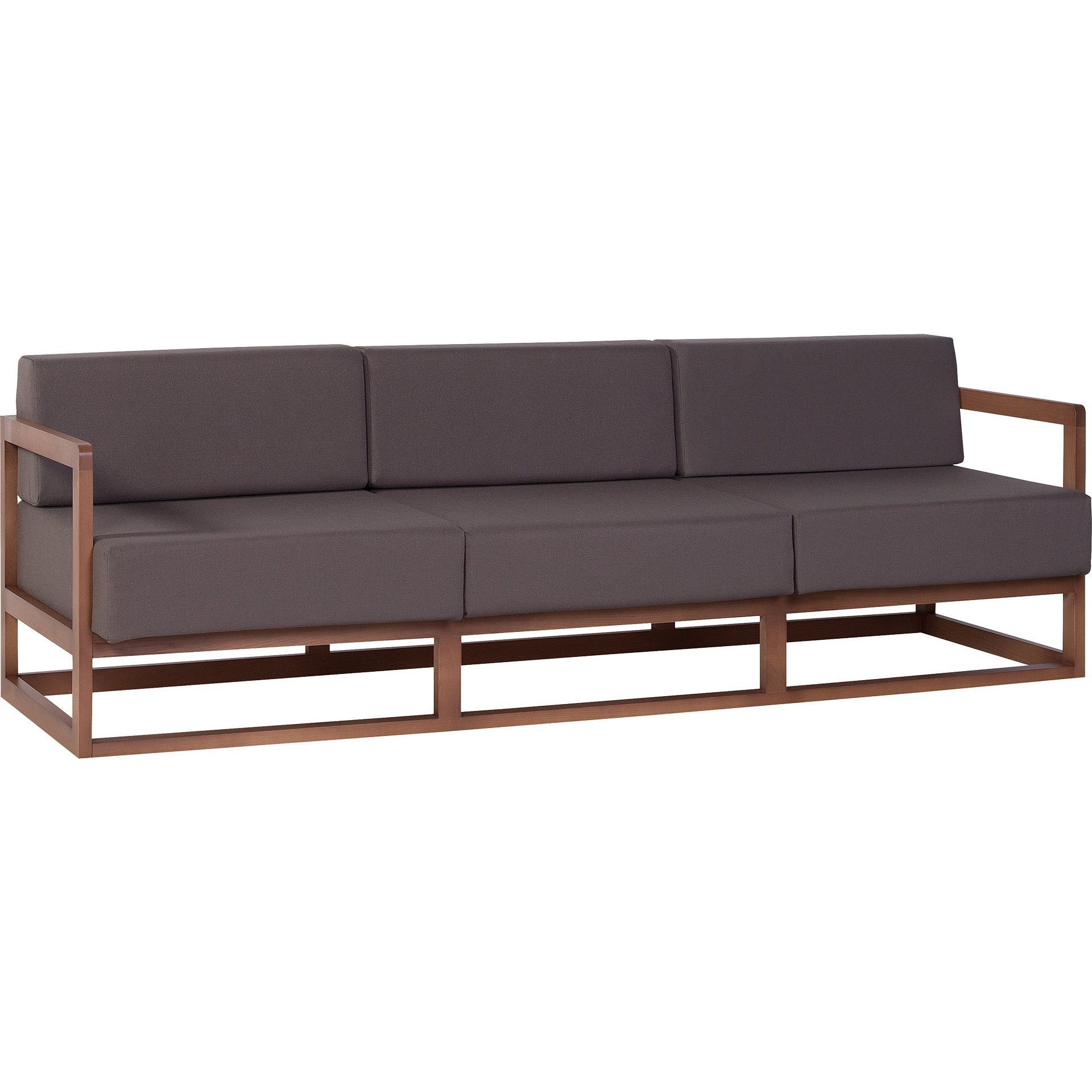 Voelkel Mio Collection Mid century Modern Brown Sofa Voelkel Mio