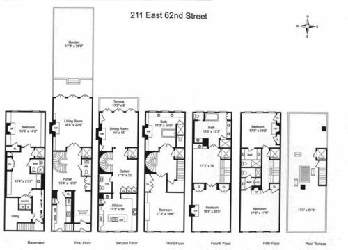 Eleanor Roosevelt S Historic Nyc Townhouse Returns For 18m Nyc Townhouse Town House Floor Plan New York Townhouse
