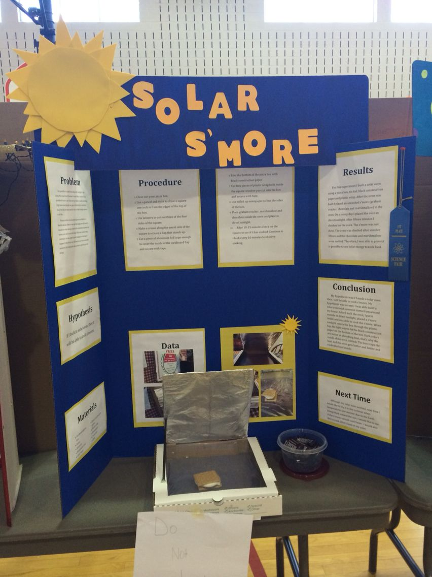 Science Fair Project Solar Oven Tested By Cooking S Mores