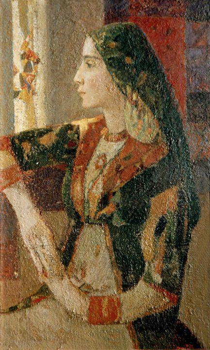 Eduard Artsrunyan. Portrait of Hripsime Artsrunyan , 1977