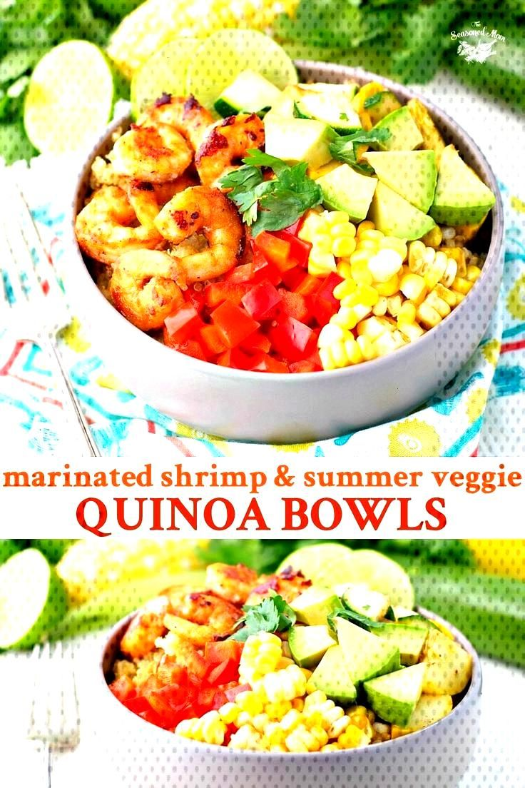 Shrimp and Summer Vegetable Quinoa Bowls These Marinated Shrimp and Summer Vegetable Quinoa Bowls w