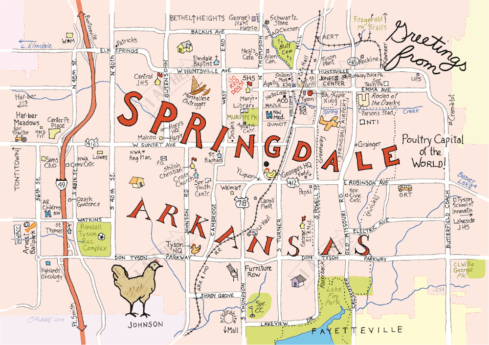 where is springdale arkansas on a map Springdale Arkansas How To Draw Hands Cards Artwork where is springdale arkansas on a map