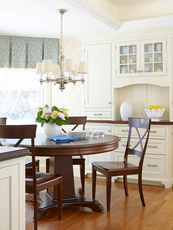 Window Treatment Styles Küche esszimmer, Esszimmer und Küche - küche mit esszimmer