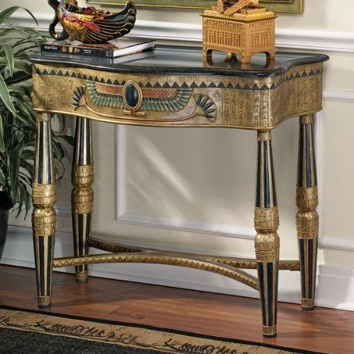 "32.5"" Classic Egyptian Console Table By XoticBrands. $614"