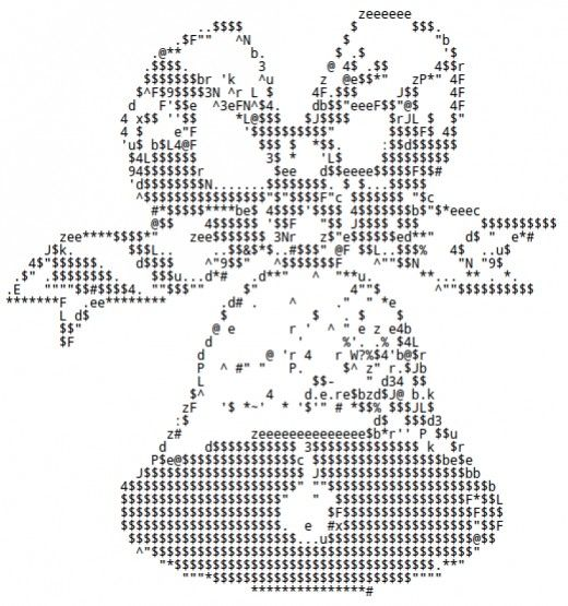 Christmas Ornaments Bells And Candles In Ascii Text Art Ascii Art Text Art Text Message Art