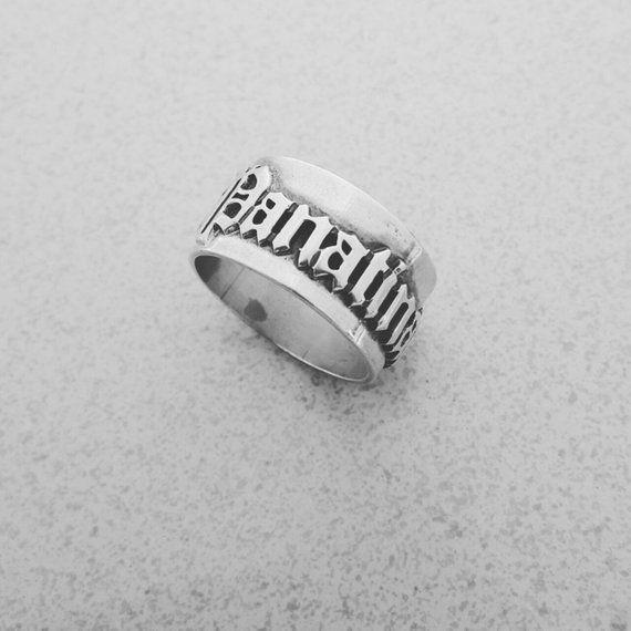 Birthday Gift Boyfriend Name Ring Silver For Mentor Dad Pr