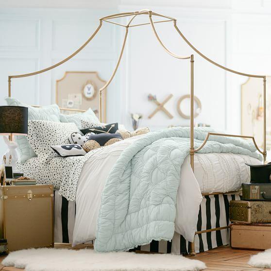 Teen Canopy Bed the emily + meritt pretty placket duvet cover + sham | pbteen