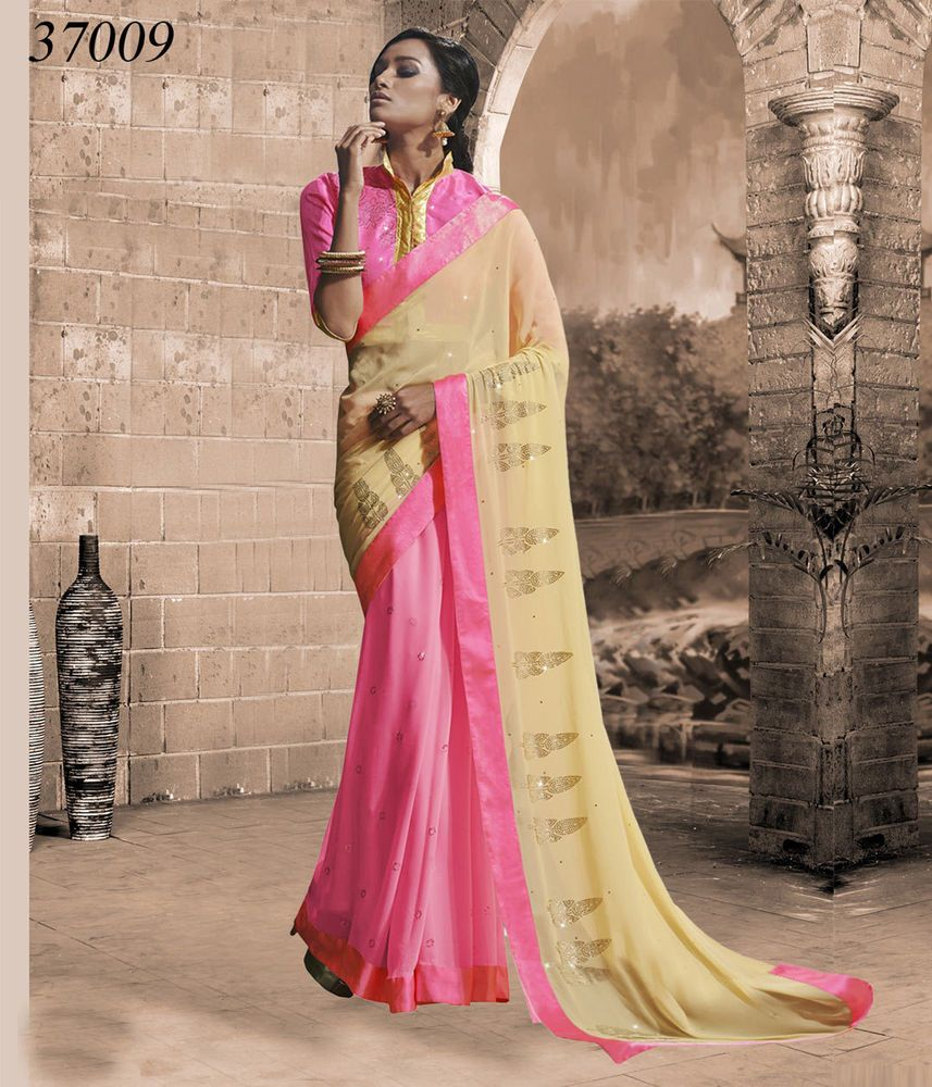 Wedding Traditional Pakistani Designer Ethnic Party Sari Indian ...
