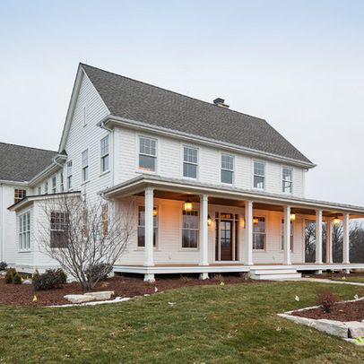 Traditional exterior farmhouse front porch design ideas for Farmhouse front porch pictures