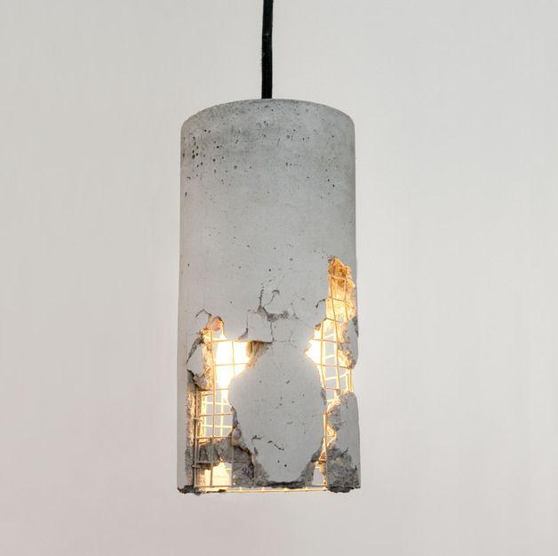 LJ LAMPS delta – Hängeleuchte aus Beton | Hängeleuchte, Dawanda und ...