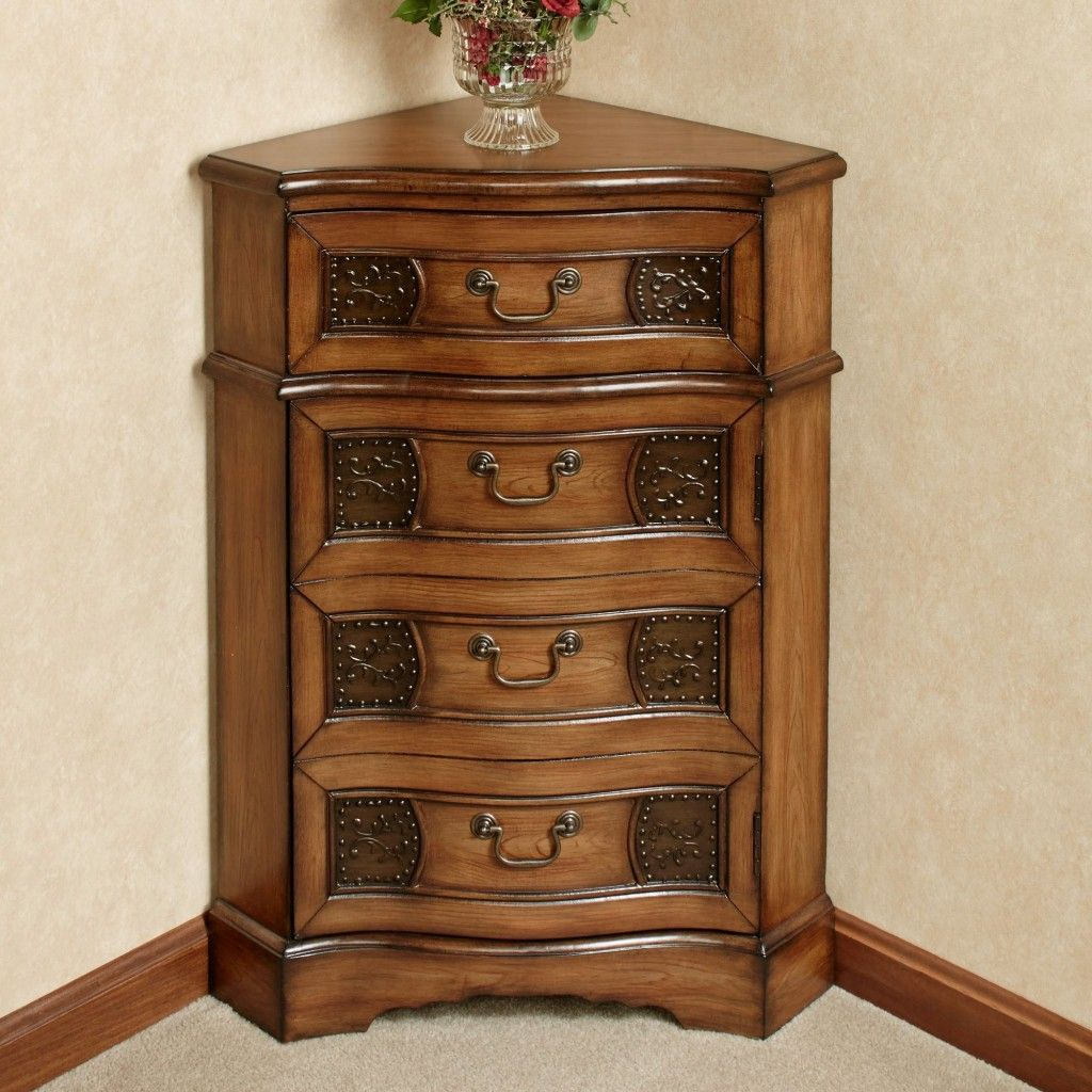 Elegant Small Corner Accent Table With Drawer Of Cadiz Wooden Corner Accent Cabinet Design Popular