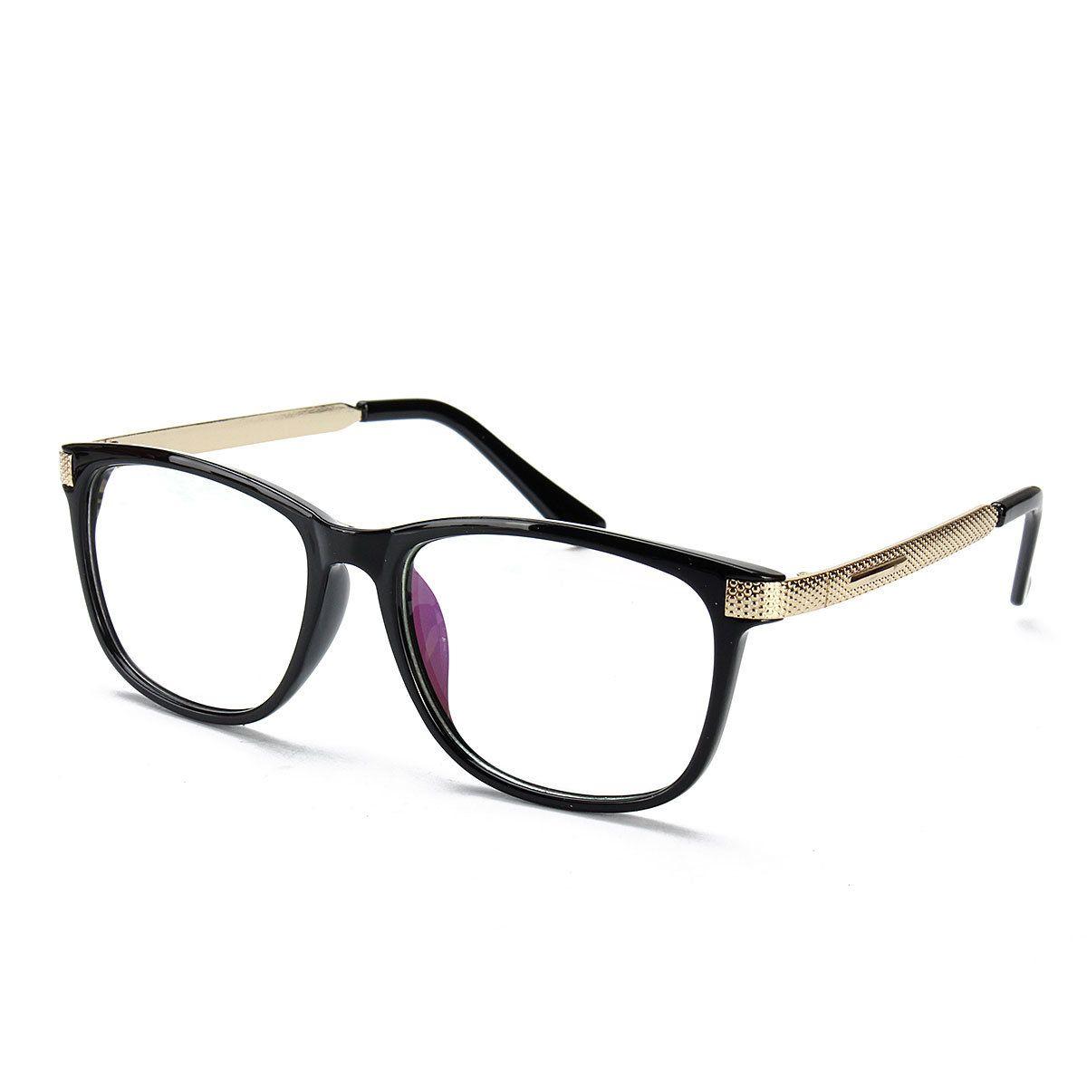 bbcbe349a2a Unisex Women Men Retro Eyeglass Frame Full-Rim Clear Lens Metal Plain  Glasses