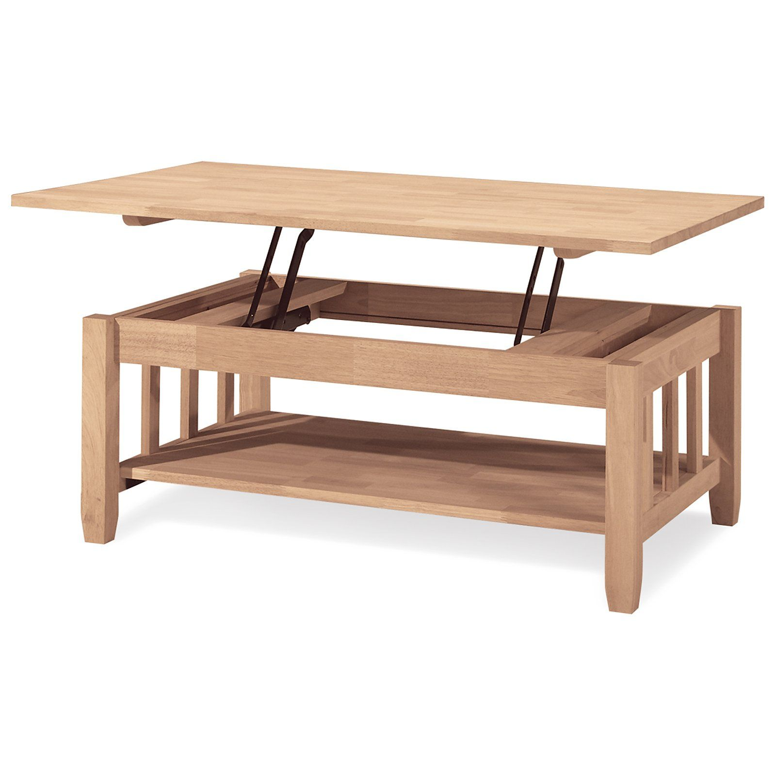 International Concepts Mission Solid Wood Lift Top Coffee Table Tall Coffee Table Hardwood Coffee Tables Coffee Table [ 1600 x 1600 Pixel ]