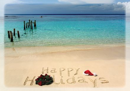 Christmas cards · happy tropical holidays