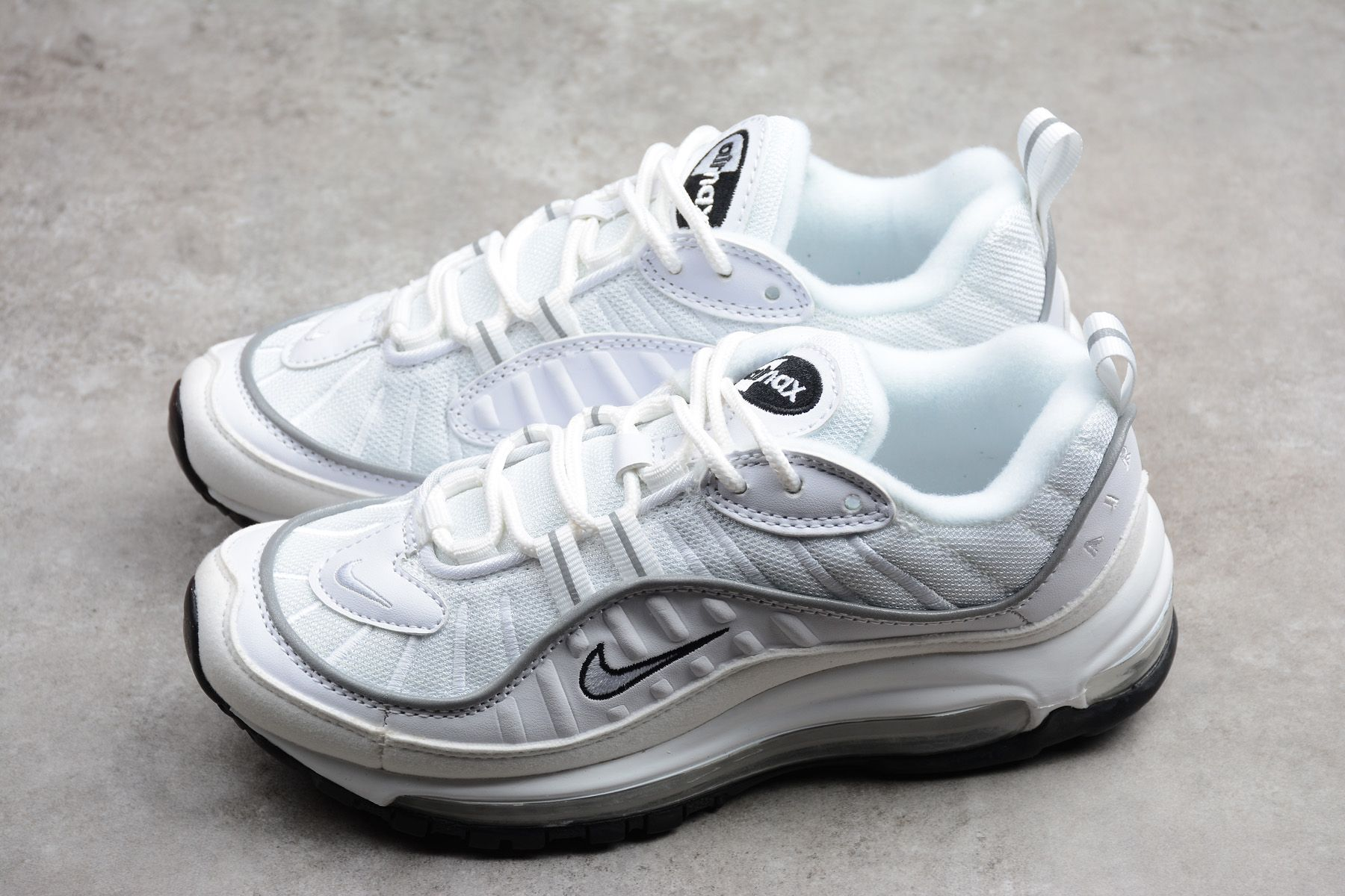 Look For The Nike Air Max 98 Oil Grey Now •