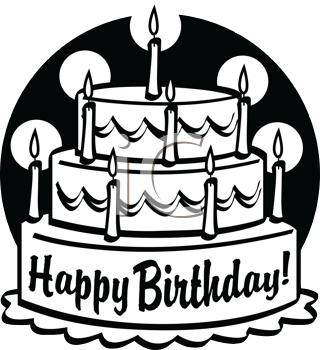 Cool Iclipart Royalty Free Clipart Image Of A Black And White Funny Birthday Cards Online Necthendildamsfinfo