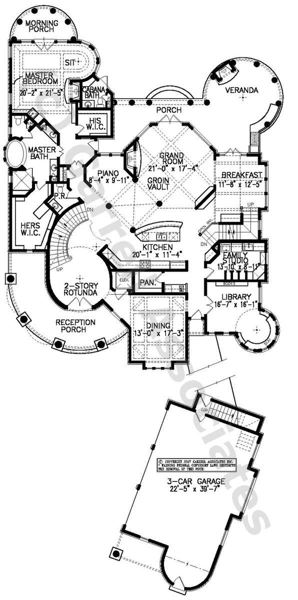 07111 Tuscany House Plan 1st Floor Plan Mediterranean Style