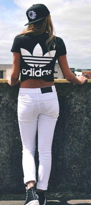 Clasico Adidas sexy Urban unique Swag Style Top Camiseta fresca