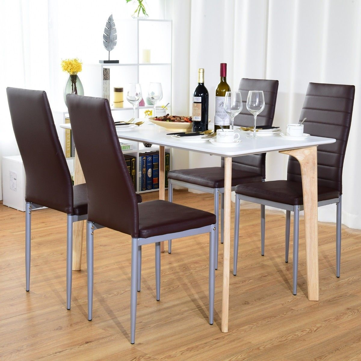 4 Pcs Pvc Leather Elegant Design Dining