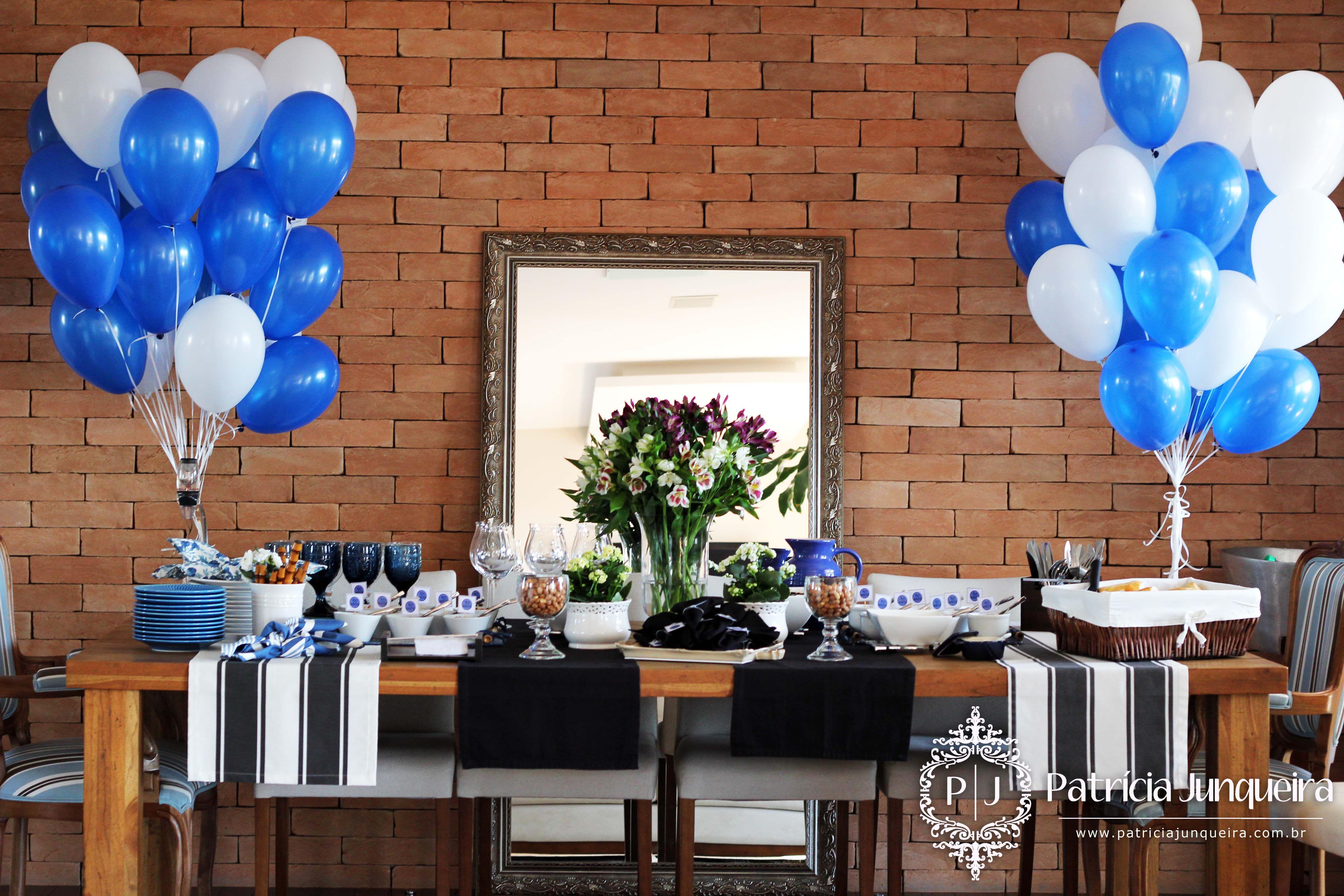 Festa 40 anos Birthday Party Decoracao festa masculina, Festa masculina e Decoraç u00e3o  -> Decoração De Mesa De Aniversario Para Homens