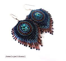 bead embroidered earrings - Szukaj w Google
