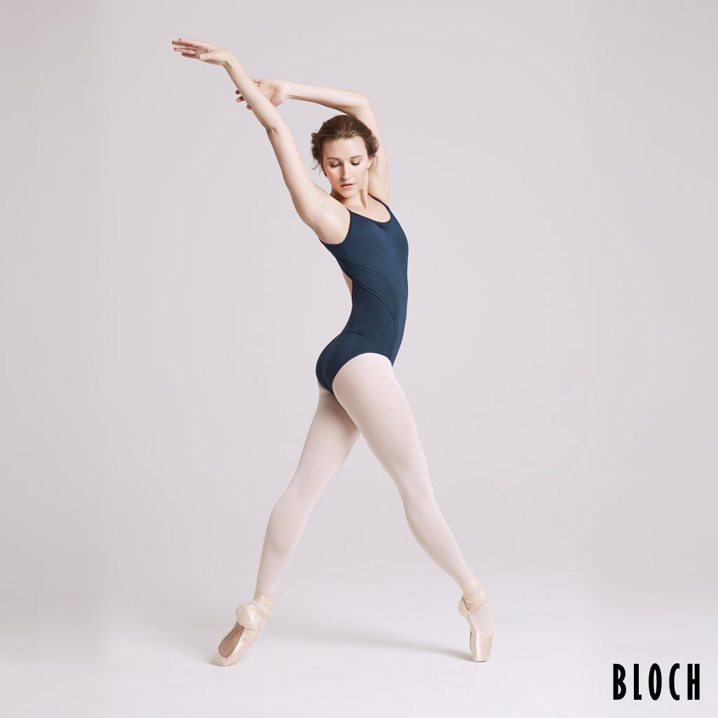 Bloch L8637 Ambara leotard. X elastic panelled keyhole back camisole leotard. Available in Black, Indigo Sky & Cherry Red  FABRIC Main   90% Nylon 10% Spandex Matte  Product Link: http://uk.blochworld.com/product/L8637