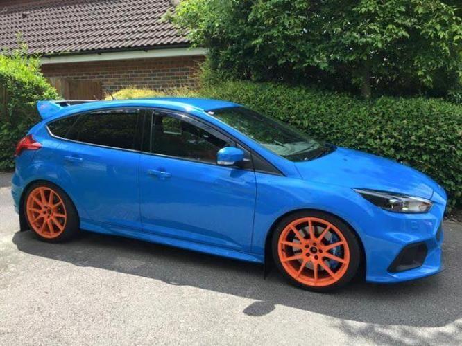 Revo Rv019 In Orange Focus Rs Revo Orange Wheels