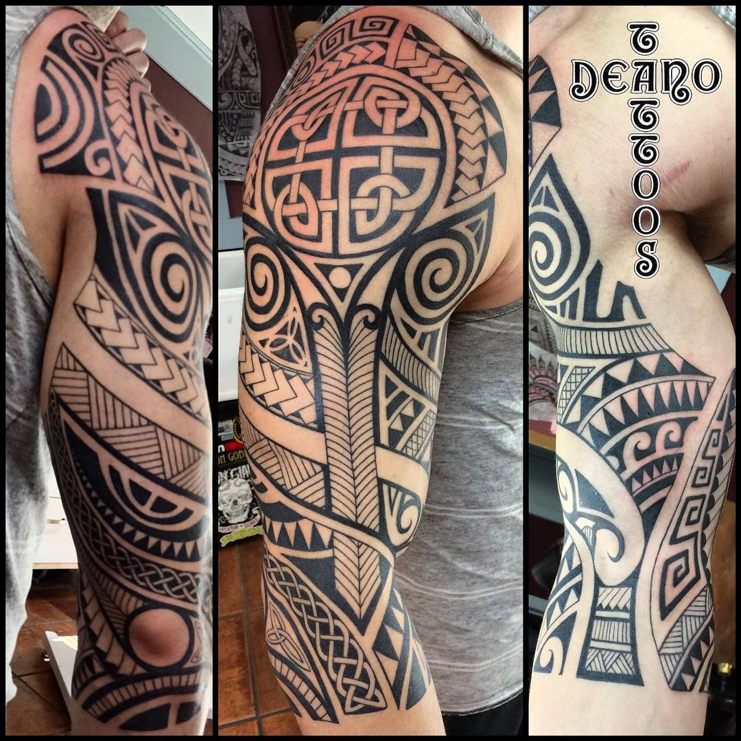 24 Tribal Shoulder Tattoo Designs Ideas: Shoulder Tribal Tattoo