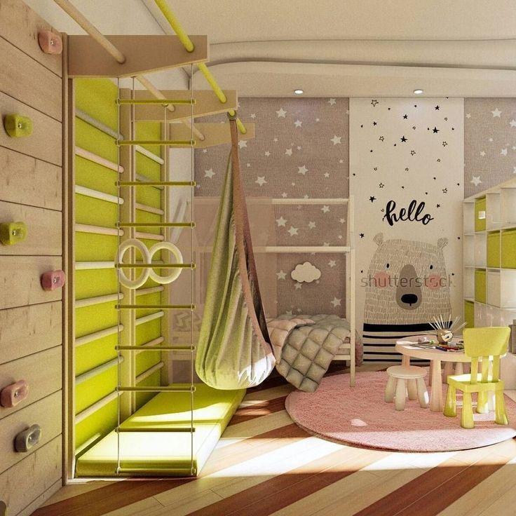 37 Fantastic Childs Room Designs Ideen mit blauen Gelbtönen – Kinder Blog