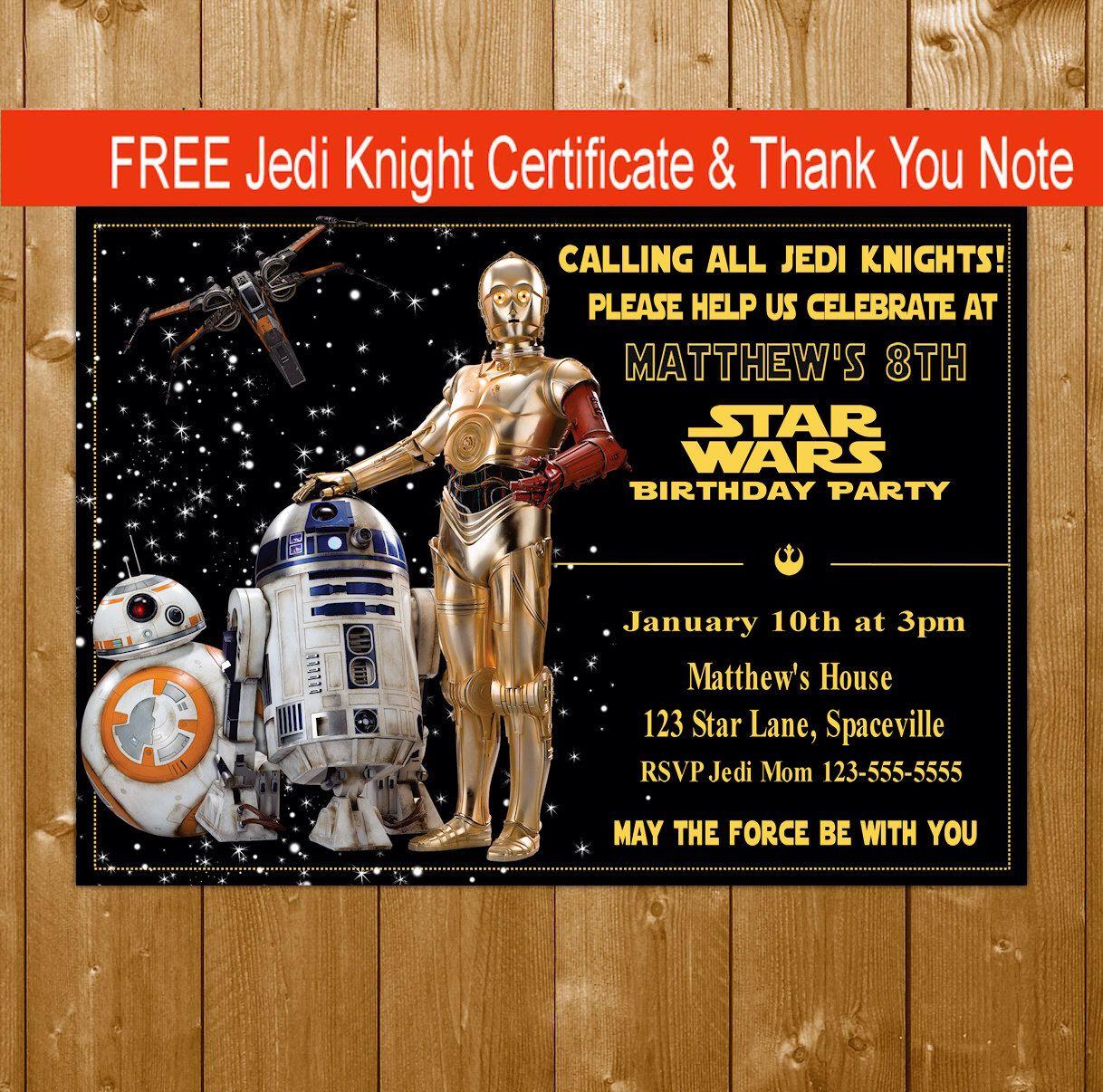 Star wars party invitation star wars droids bb8 r2d2 c3po star wars party invitation star wars droids bb8 r2d2 c3po invitation alramifo Images